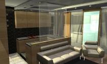 salon z otwarta kuchnia
