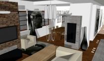 salon w stylu loftowym 1